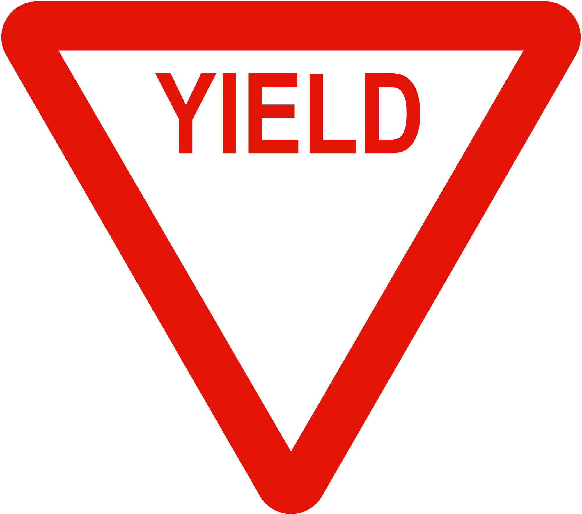 Yield sign png. File liberian road signs