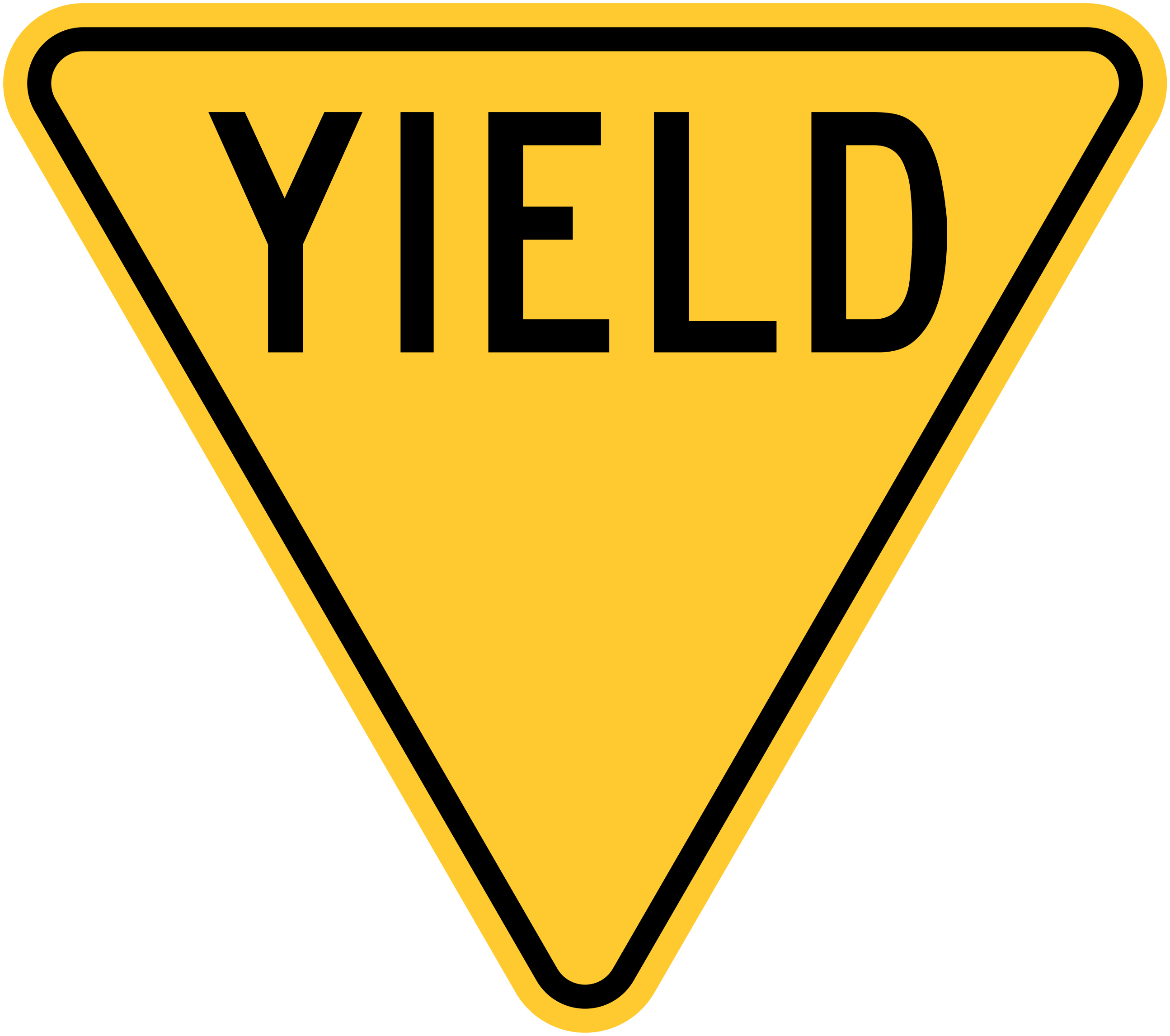 File united states v. Yield sign png clip art black and white stock