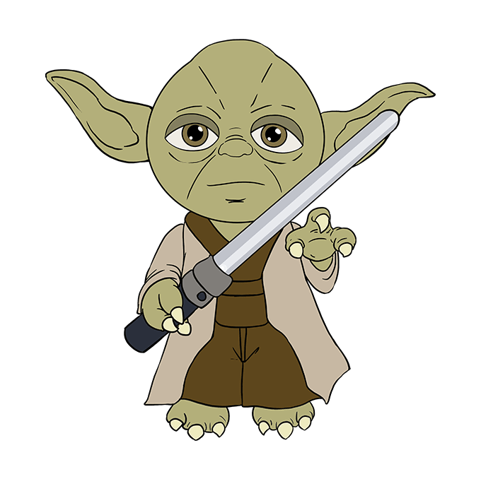 Drawing yoda realistic. How to draw from