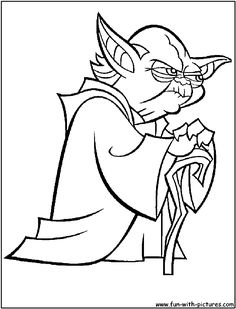Yoda clipart coloring sheet. Star wars pages free