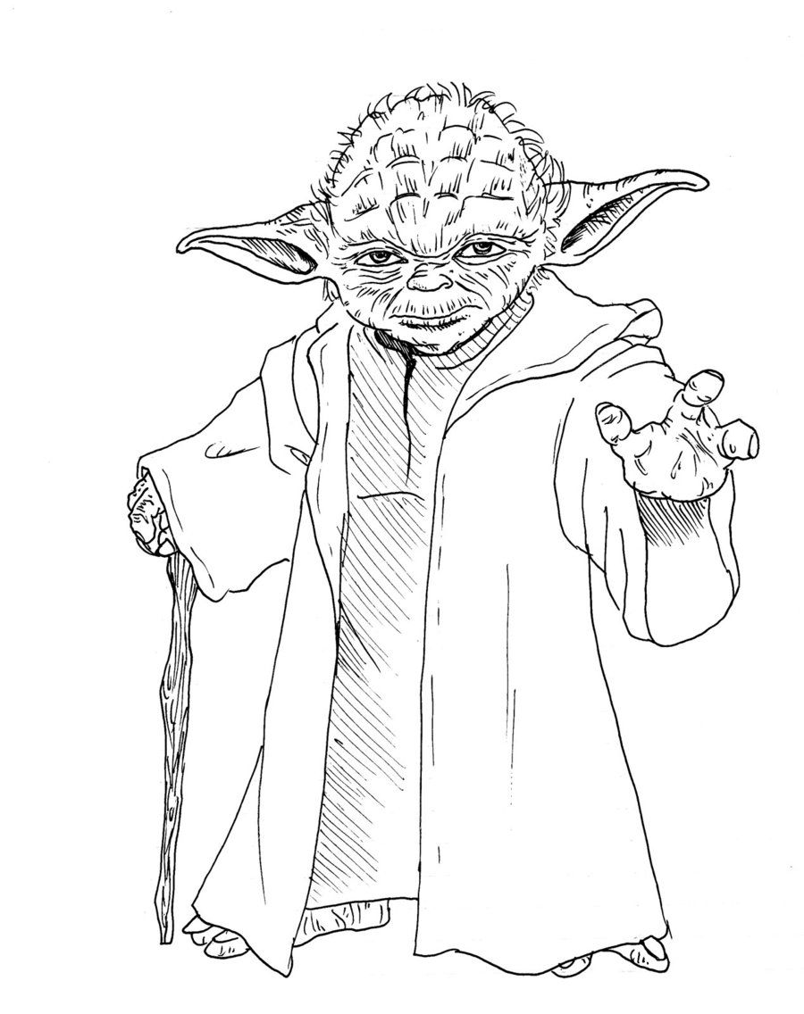Yoda clipart coloring sheet. Lego star wars pages