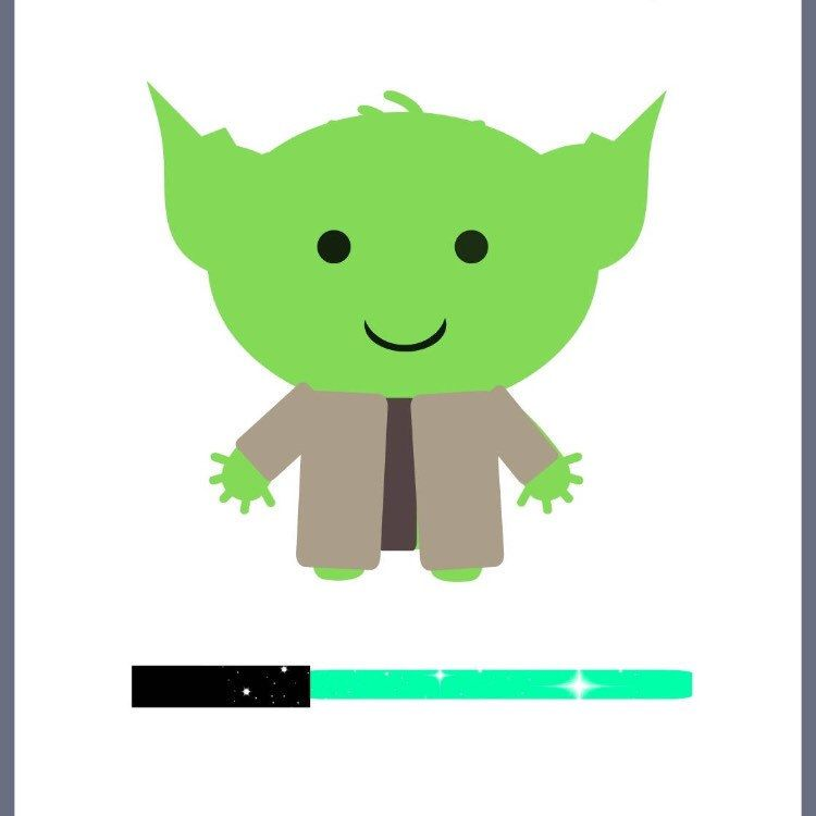 Yoda clipart jedi. Printables for your star