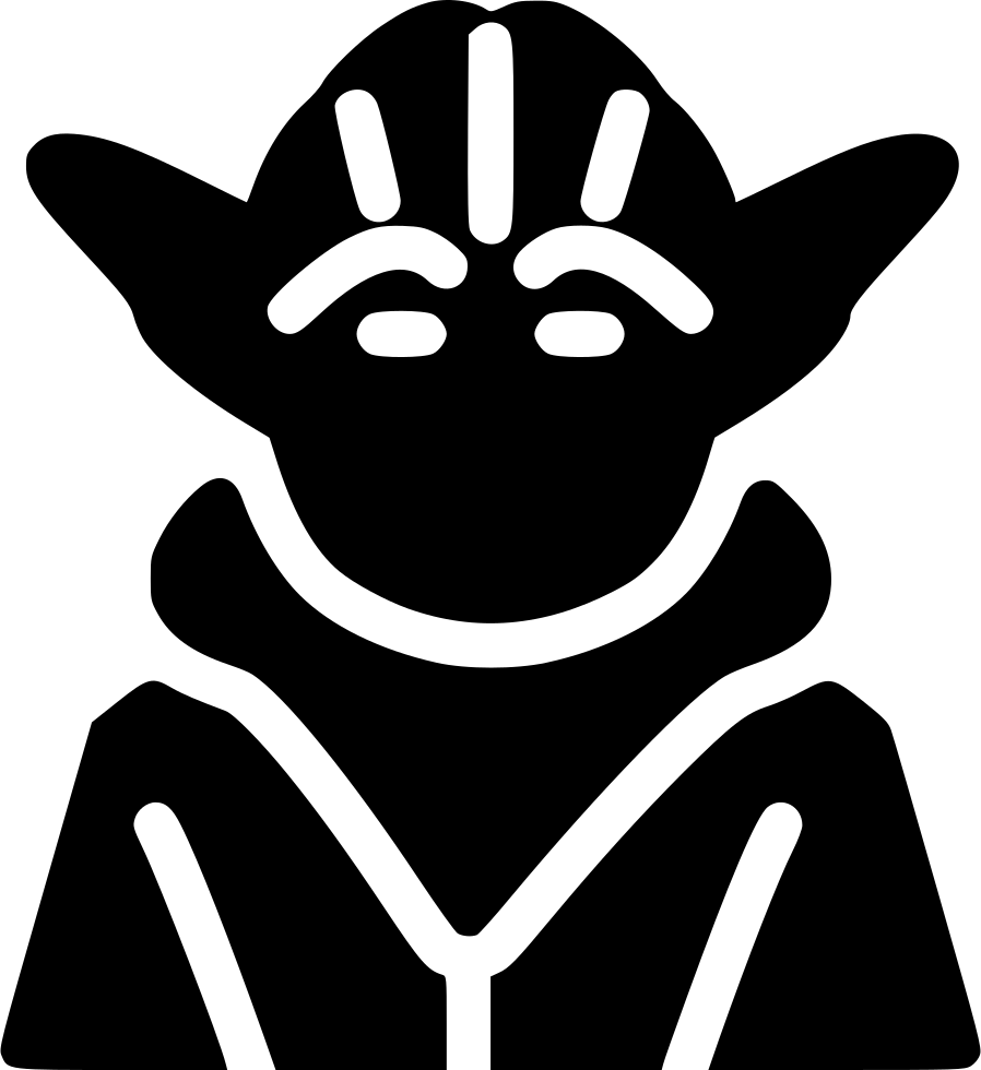 Yoda outline png. Master svg icon free