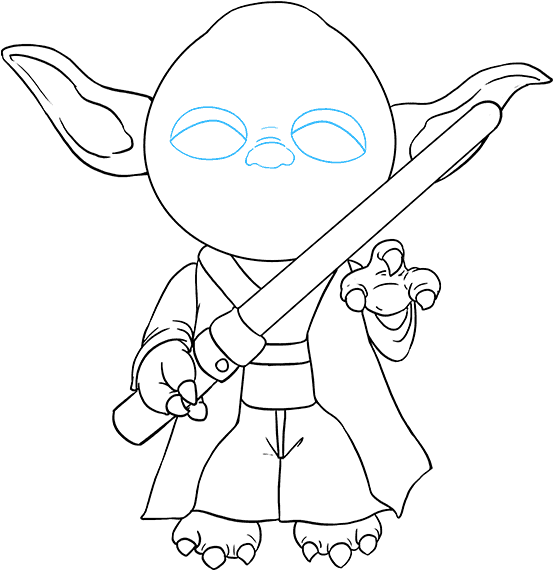 Yoda outline png. Download hd how to