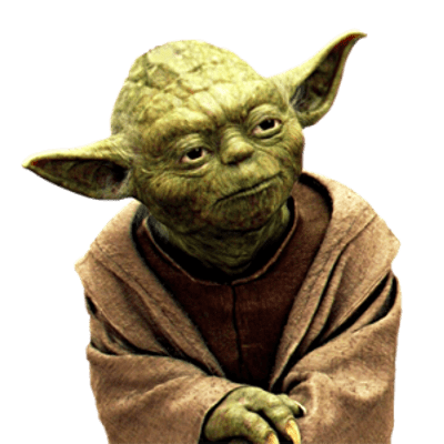 Yoda png. Side view transparent stickpng