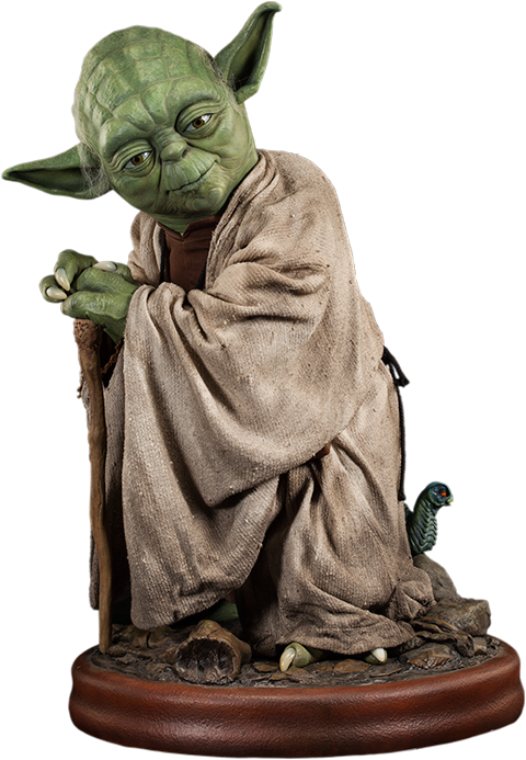 Yoda toy png. Life size figure click