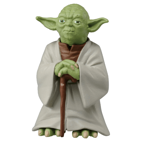 Yoda toy png. Die cast palm size