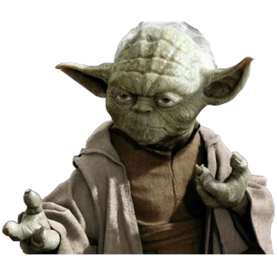 Yoda transparent png. Ready to fight stickpng