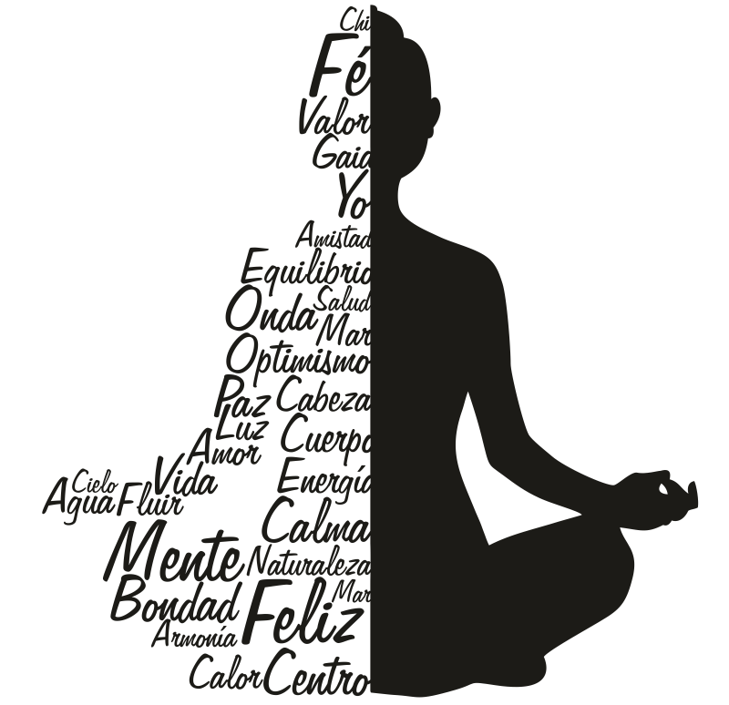 Yoga artsy images png. Texto buda click the