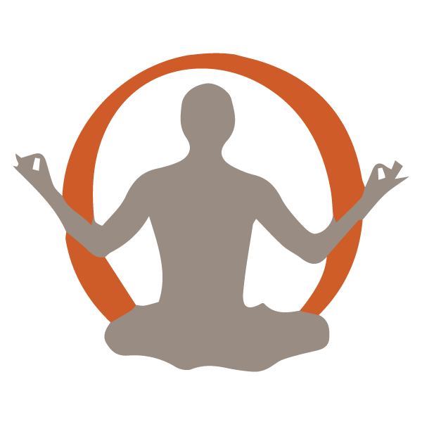 Yoga clip breathing technique. Vector library instructor