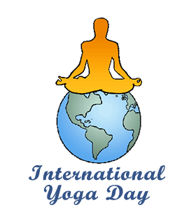 Yoga clip day. International art