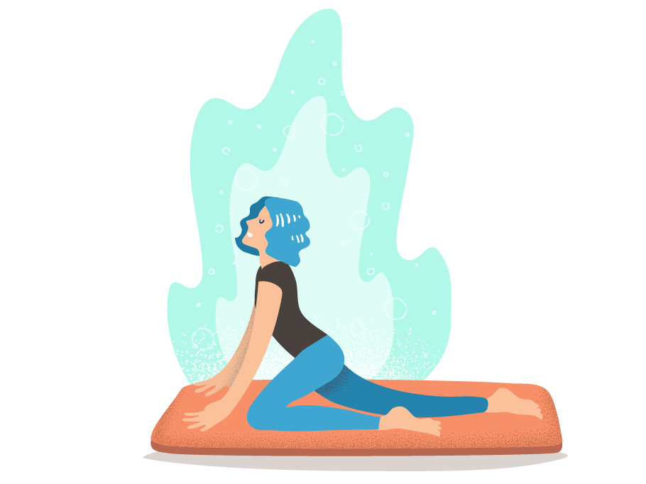 Yoga clip exercise. By carlos cubillos dribbble