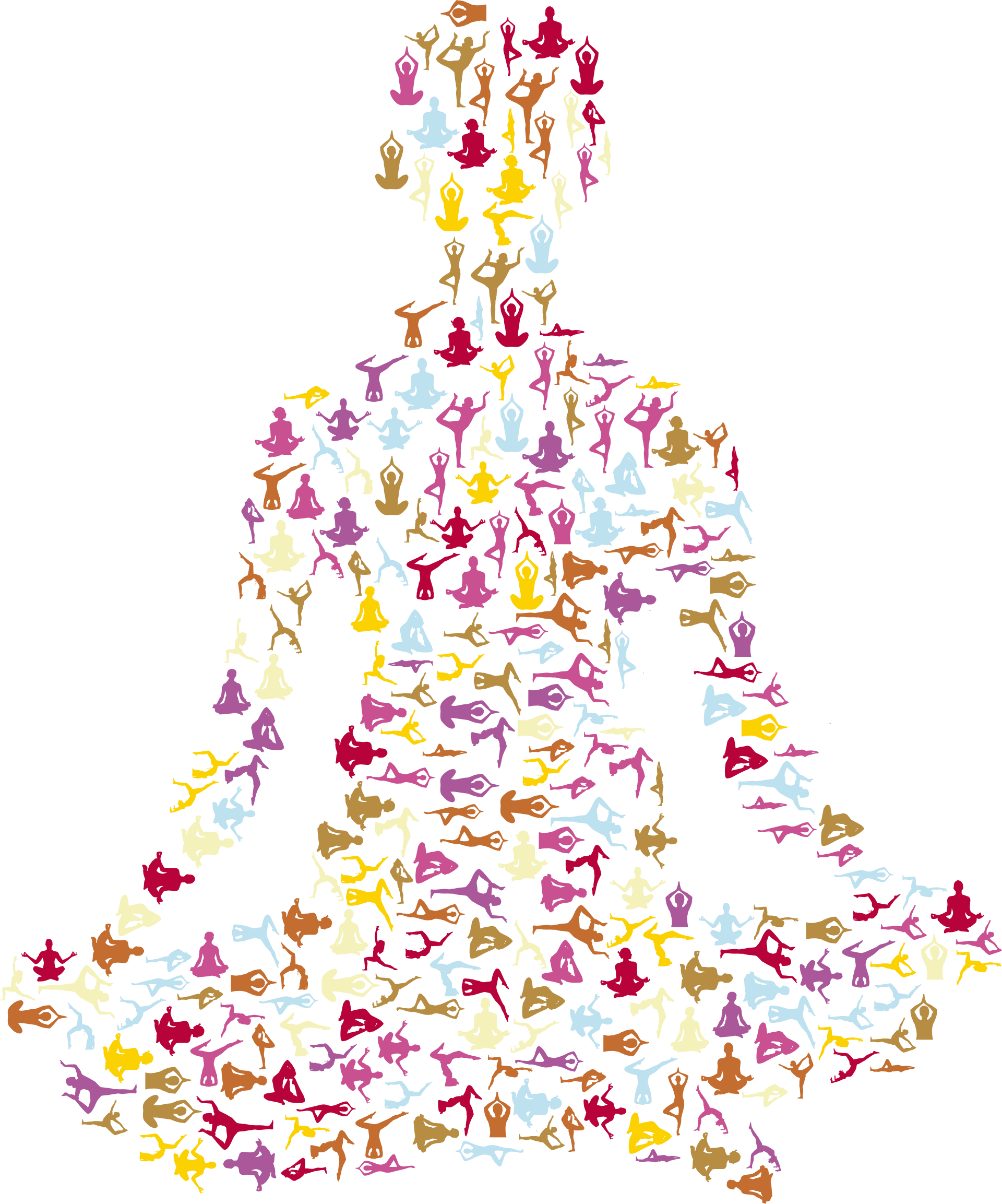 Yoga clip clipart. Female pose silhouette fractal
