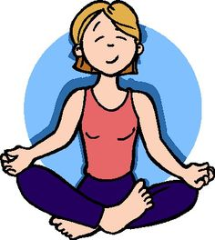 Yoga clipart gentle yoga. Costumed actress poses with