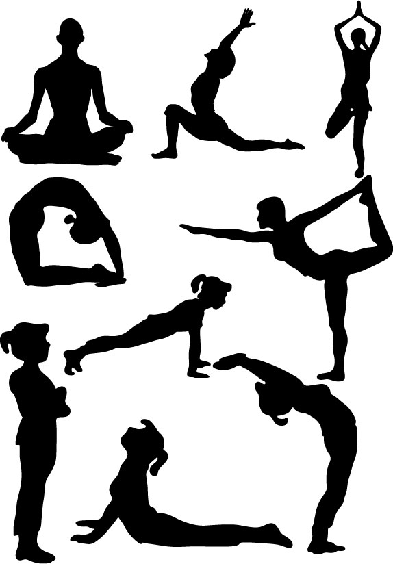yoga clipart gentle yoga