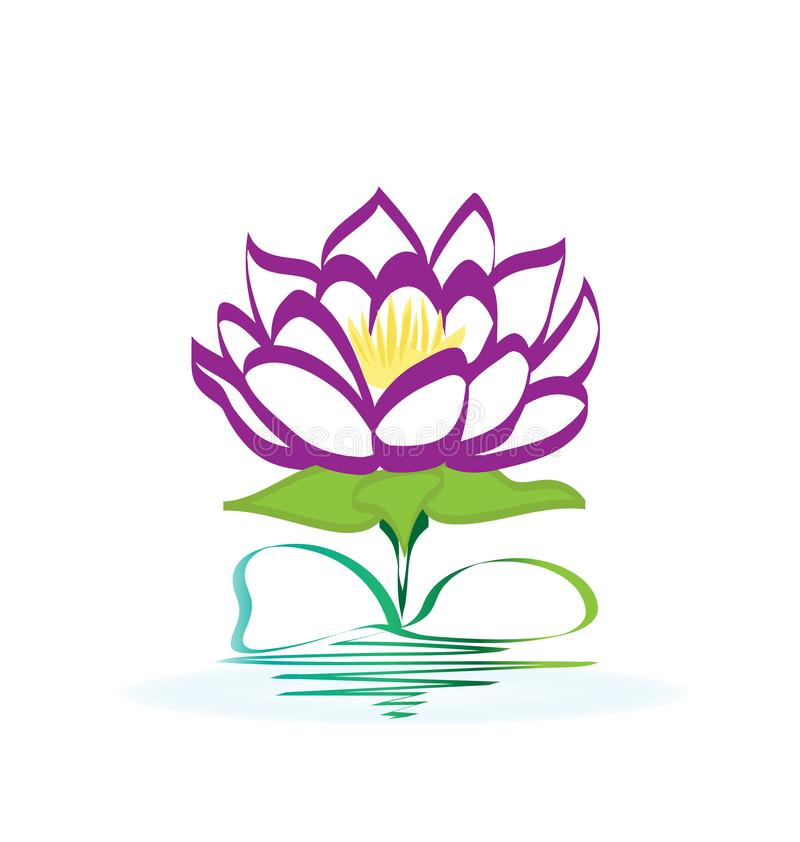 Yoga clipart lotus flower. Purple logo stock vector vector transparent library