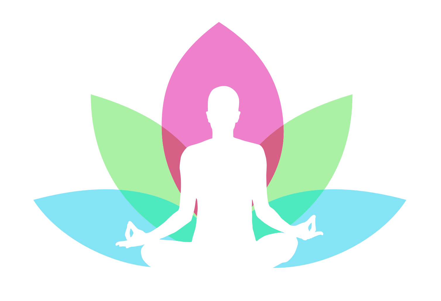 Watercolor yoga png. Logo compassion in action