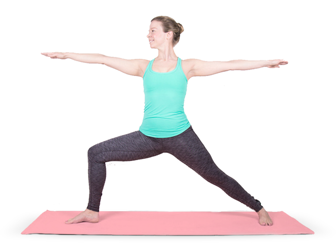 Person doing yoga png. Mediclick landing page template
