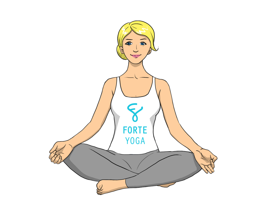 Yoga seated png. Easy pose forte