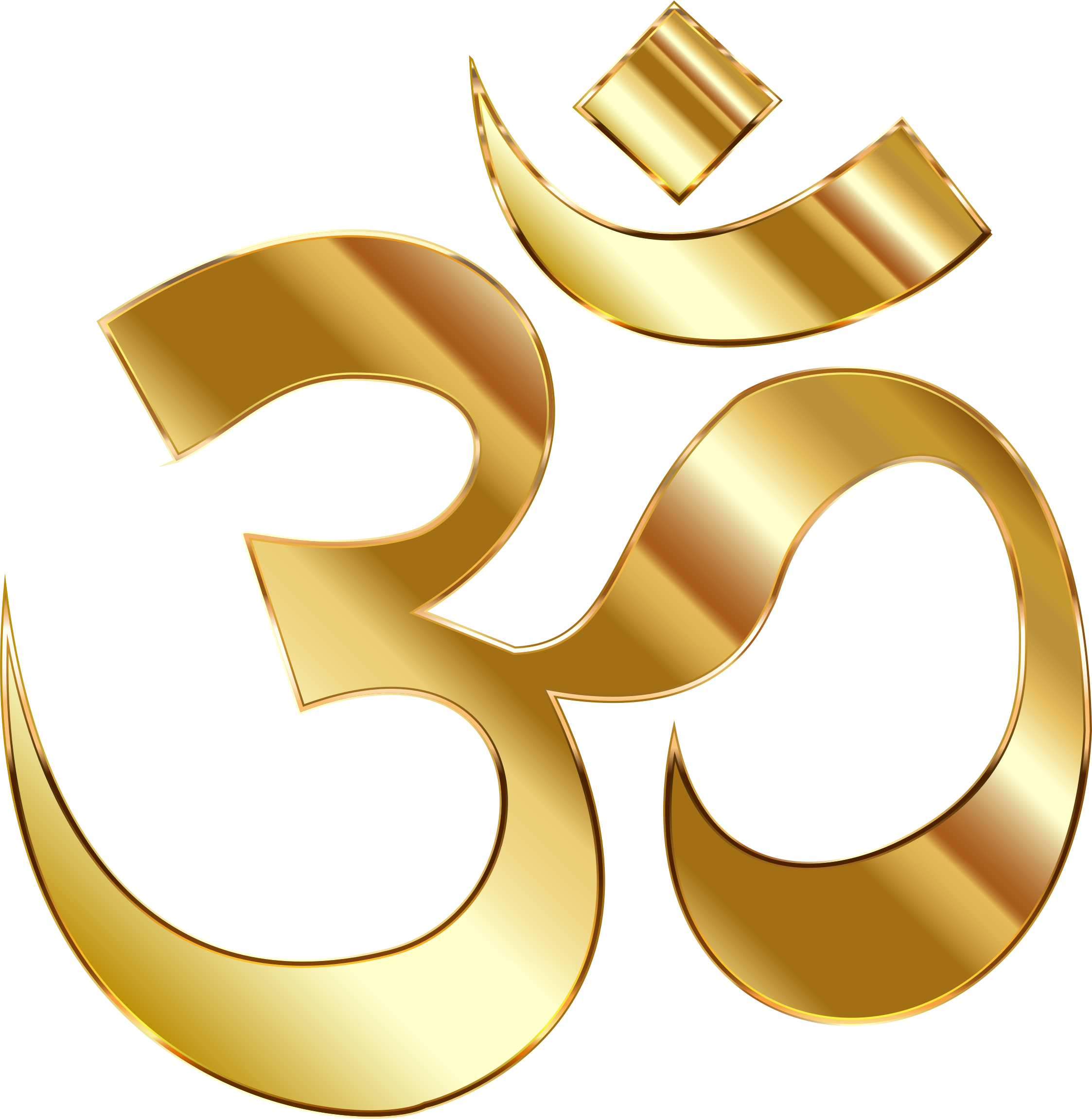 Yoga symbol and om png. Clipart golden no background