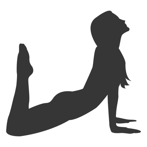 Girl practice silhouette in. Yoga transparent svg vector transparent download