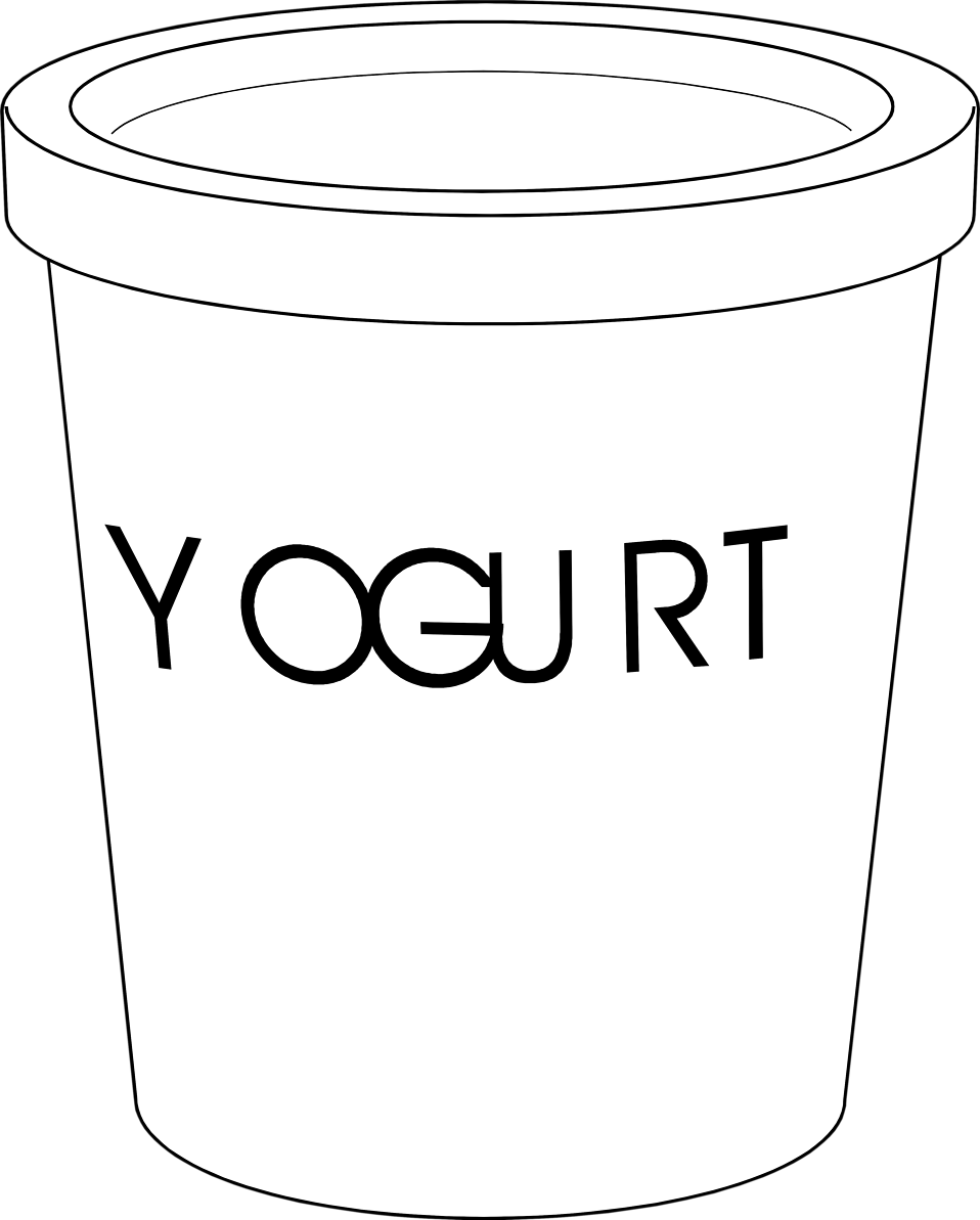 Yogurt transparent white background. Collection of clipart