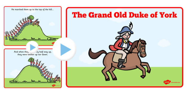 The duke of powerpoint. York clipart grand old vector royalty free