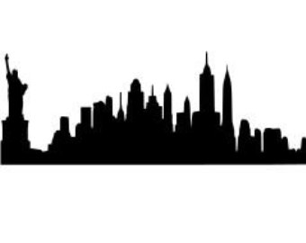 York clipart skyline clipart. Silhouette new at getdrawings