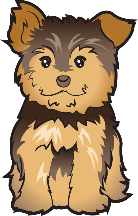 yorkie clipart birthday