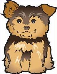 Yorkie clipart birthday. Free yorkshire terrier