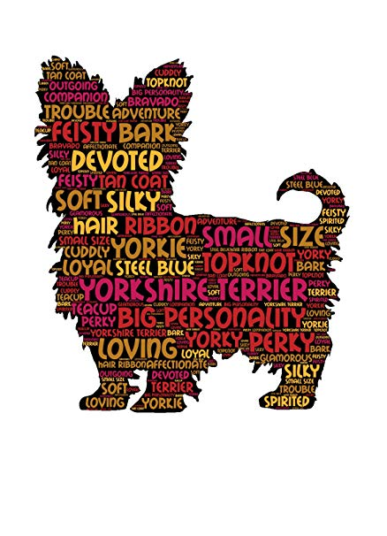 Yorkie clipart cairn terrier. Art print a yorkshire
