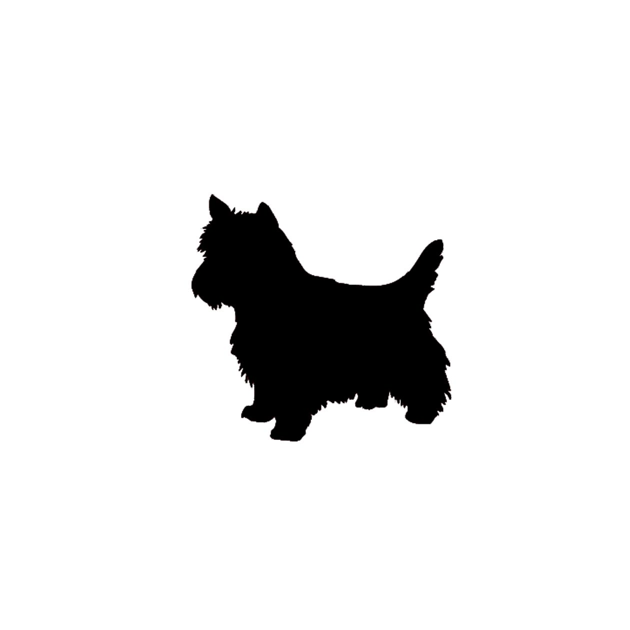 Yorkie clipart cairn terrier. Silhouette at getdrawings com