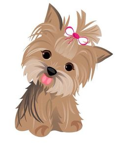 Yorkie clipart clip art. Watercolor yorkshire terrier set
