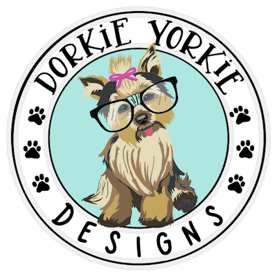 Yorkie clipart file. Dorkie designs archives page