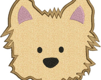 Yorkie clipart head. Puppy etsy dog face