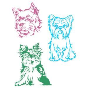 Yorkie clipart silky terrier. Yorkshire dog lined art