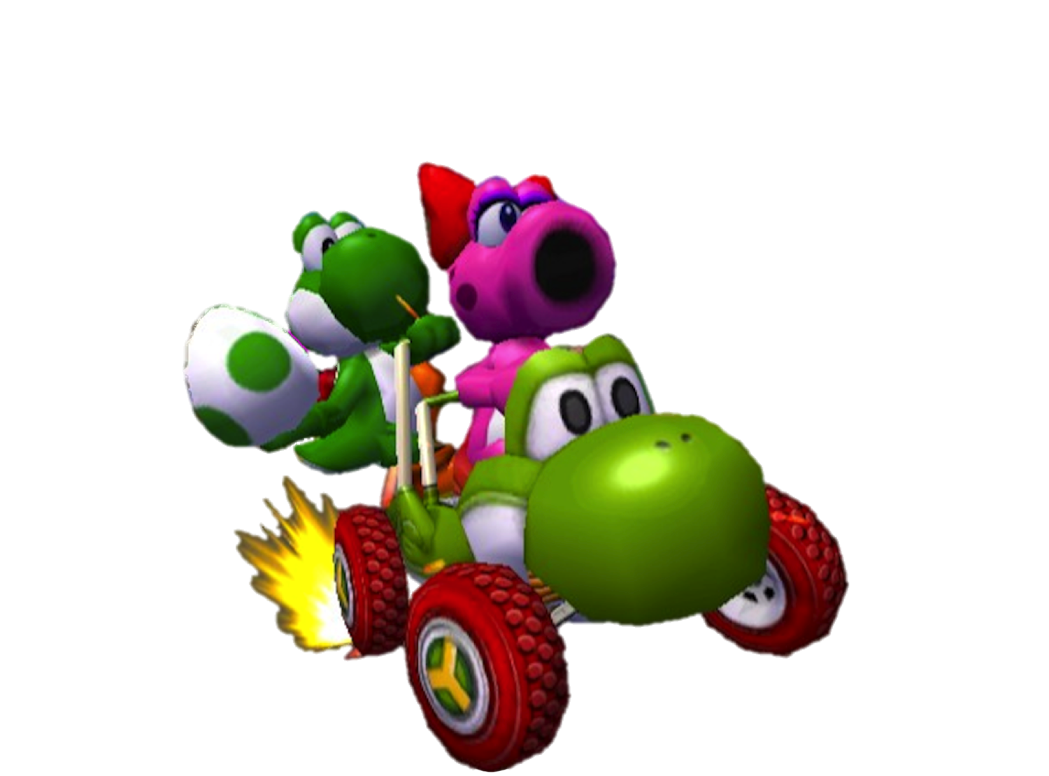 Yoshi mario kart png. Double dash images and