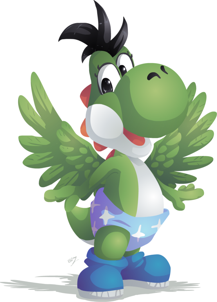 Yoshi vector excited. Kid by lady of