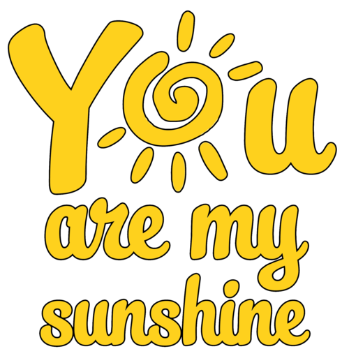 You are my sunshine png. Cute funny mother and