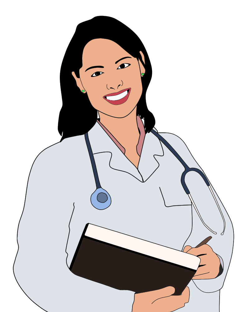Young clip art. Onlinelabels female doctor