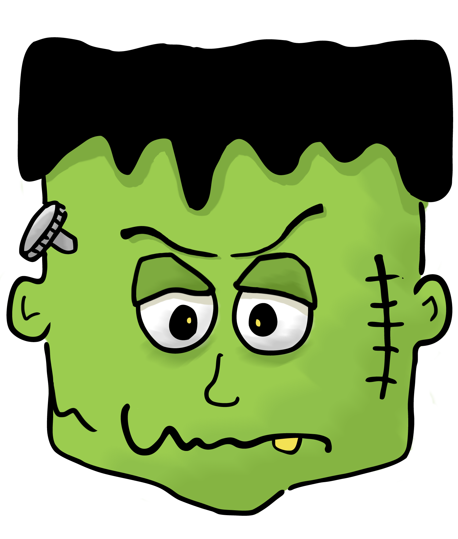 Young clip frankenstein. Svg black and white