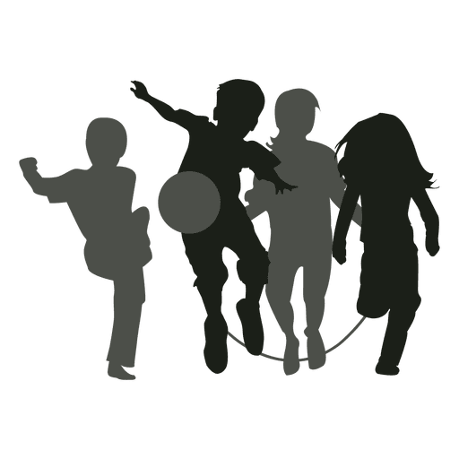 Youth clipart silhouette transparent background. Kids at getdrawings com