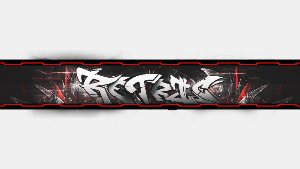 Youtube banner png. By retricdesignz on deviantart