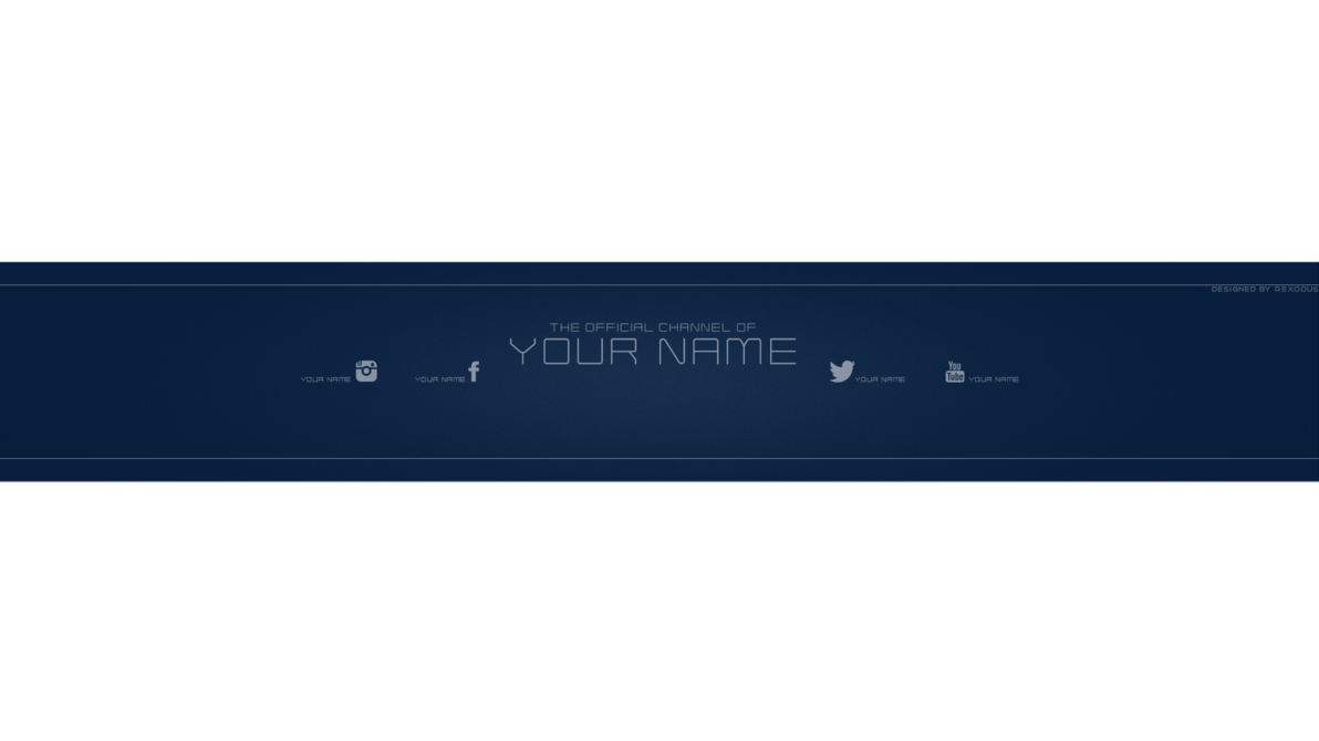 Youtube banner png. Free template psd new