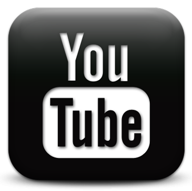 youtube logo black png