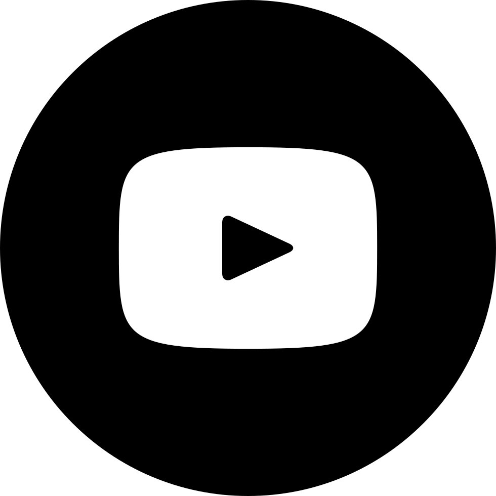 Youtube png icon. With circle svg free