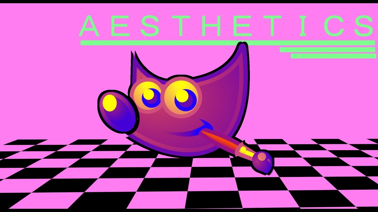 Youtube clipart vaporwave. Making an with gimp