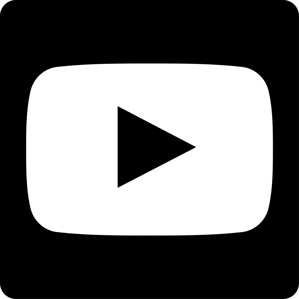 Youtube icon white png. Symbol svg free download