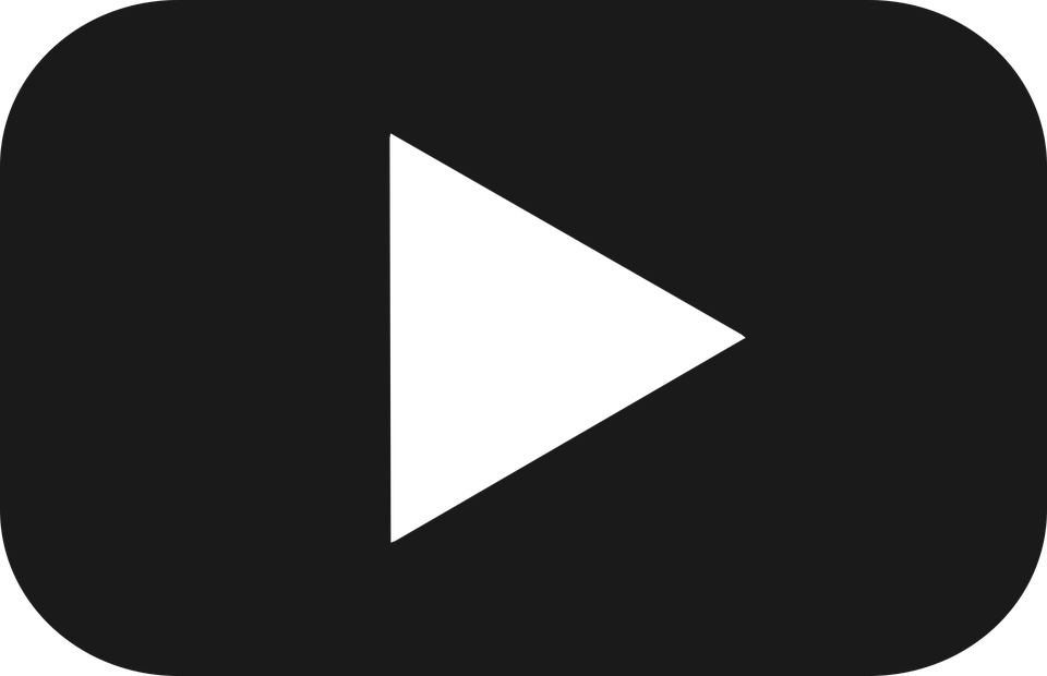 Youtube logo white png. Vectors yt button