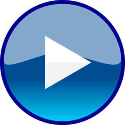 Youtube play button transparent png. Classic stickpng blue